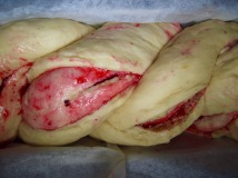 vanilla and lingonberry babka