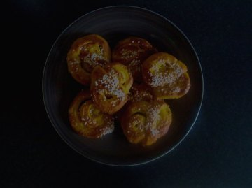 Swedish saffron buns with caramel-butter