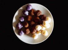 Blueberry, Toblerone and Lemon truffles
